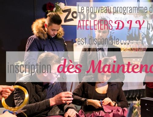 Programme des Ateliers DIY – Salon du mariage de Marseille 25 & 26 Nov. 17